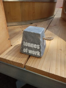 Tonnen an Arbeit